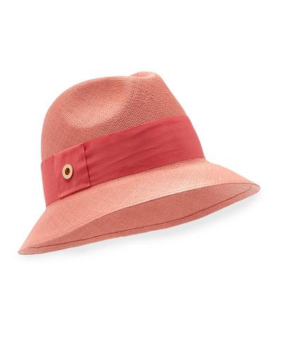 Ingrid Panama Hat, Pink