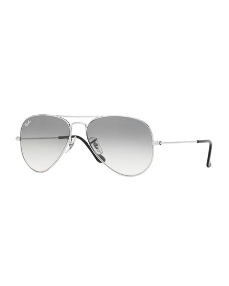 Ray-Ban Original Aviator Sunglasses, Silver/Gray