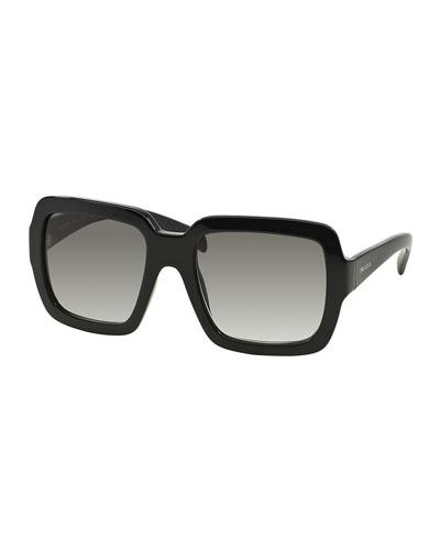 e455da607126 Prada Thick-Rim Square Sunglasses