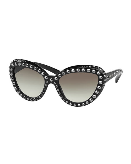 Prada Cat Eye Studs