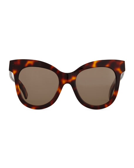 Holly Cat-Eye Sunglasses, Havana