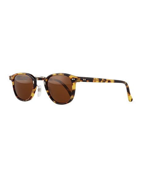 Tribeca Round Sunglasses, Havana