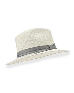 Indi Hand-Dyed Panama Hat, Blue