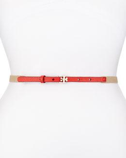 Split Stretch Skinny Belt, Red