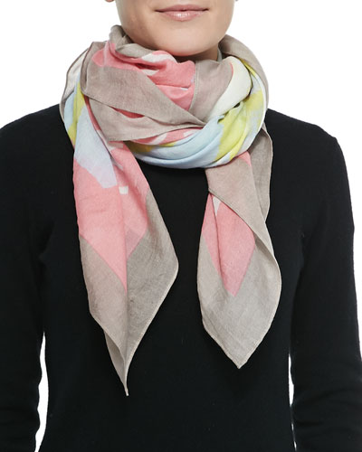 Washed Ink Scarf, Pink
