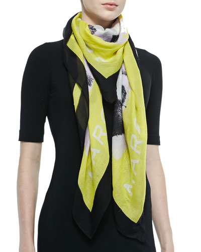 Washed Ink Scarf, Disco Yellow