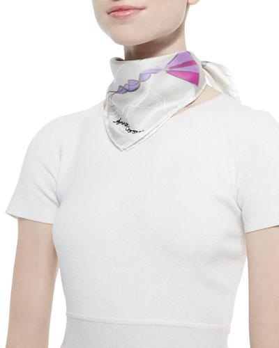 Kite-Print Silk Scarf