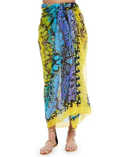 Rainbow Wings Convertible Pareo, Blue/Yellow