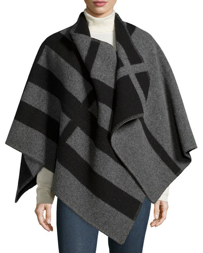 Mega Check Cape, House Check/Gray