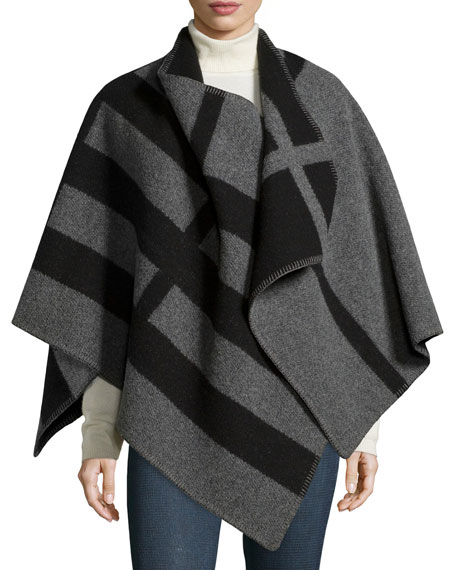 Burberry Mega Check Cape, House Check/Gray