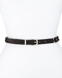 Bradbury Woven Suede Hip Belt, Black