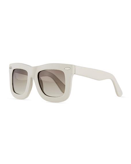 Grey Ant Status Thick Plastic Sunglasses, Cream