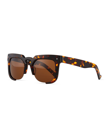 Grey Ant Temple Cutoff Square Sunglasses, Tortoise