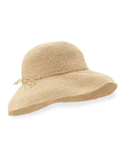"Provence 12"" Brim Raffia Hat, Natural"