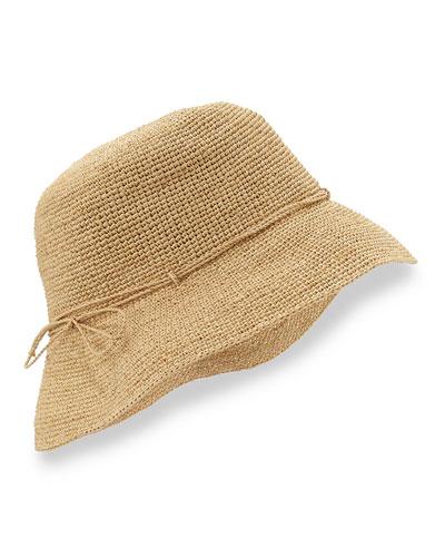 "Provence 8"" Brim Raffia Hat, Natural"
