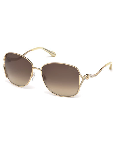 Meissa Snake-Arm Sunglasses, Golden