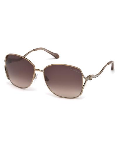 Meissa Snake-Arm Sunglasses, Bronze