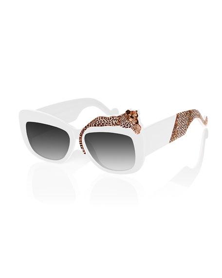 Anna-Karin Karlsson Rose Et La Mere Leopard Sunglasses,