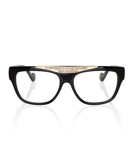 Beyond Glistening Fashion Glasses, Black/Golden