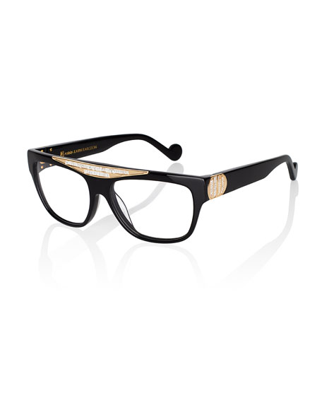 Anna-Karin Karlsson Beyond Glistening Fashion Glasses, Black/Golden