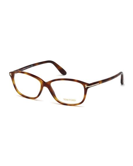 Soft Square Fashion Glasses, Havana