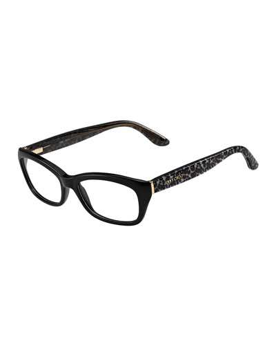 Animal-Temple Optical Frame. Black/Gray