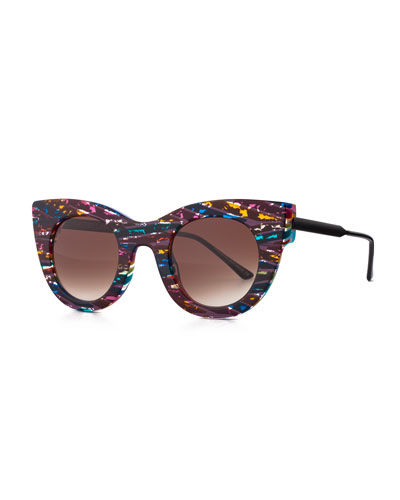 Limited Edition Divinity Cat-Eye Sunglasses, Multi