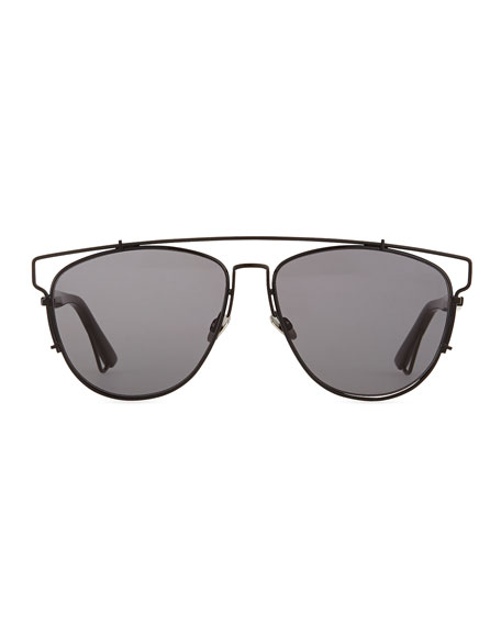 Dior Sunglasses Black  dior technologic cutout aviator sunglasses black