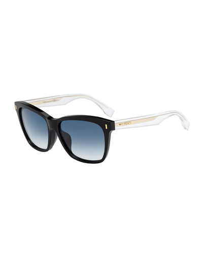 e141355ccd0 Fendi Universal-Fit Rectangular Sunglasses