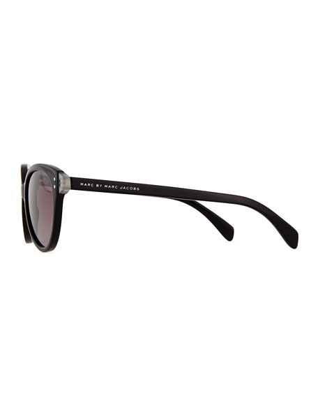 MARC by Marc Jacobs Plastic Cat-Eye Sunglasses, Black