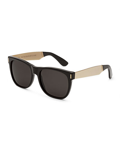 Classic Francis Sunglasses, Black/Gold