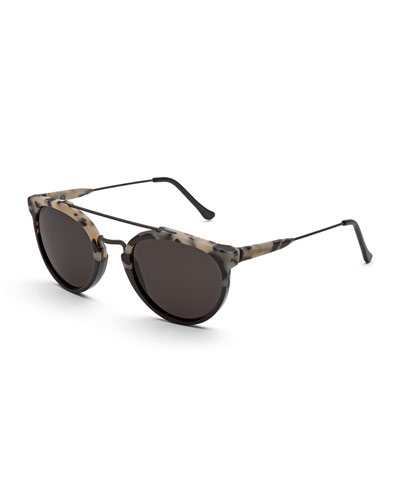 Giaguaro Puma Sunglasses, Black/Cream