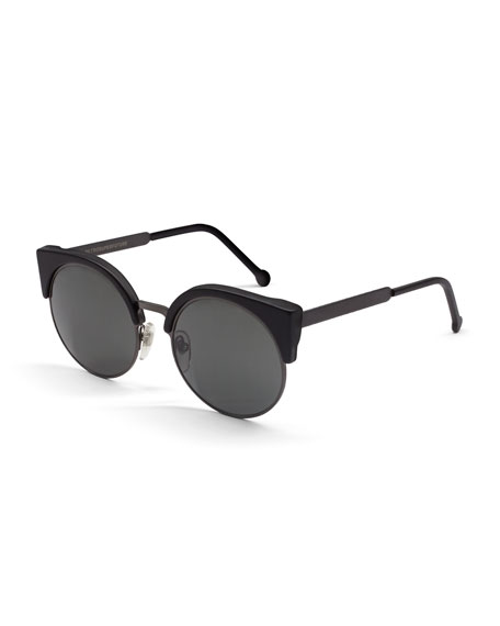 Ilaria Matte Sunglasses, Black