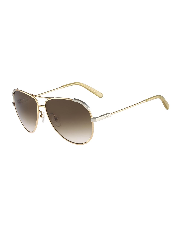 2584f2a552ec Chloe Eria Aviator Sunglasses