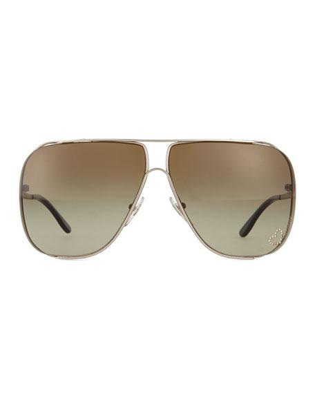 Big Frame Aviator Glasses : Stella McCartney Large-Frame Aviator Sunglasses, Gray