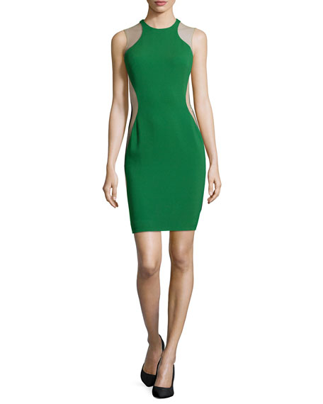 Sleeveless Colorblock Dress, Green