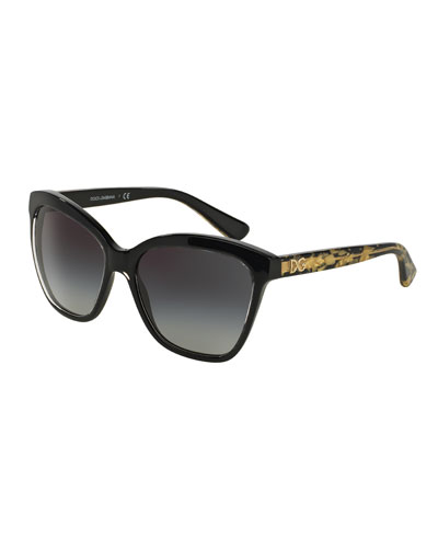 Golden Leaves Sunglasses, Black