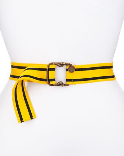 Striped Cotton Belt, Yellow