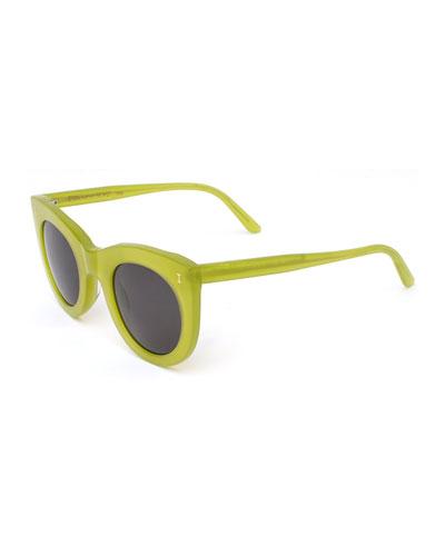 Boca Cat-Eye Sunglasses, Light Green