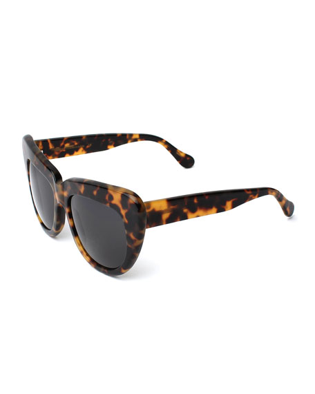 Brigitte Cat-Eye Sunglasses, Tortoise