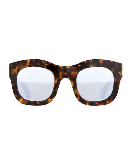 Hamilton Mirror Sunglasses, Havana