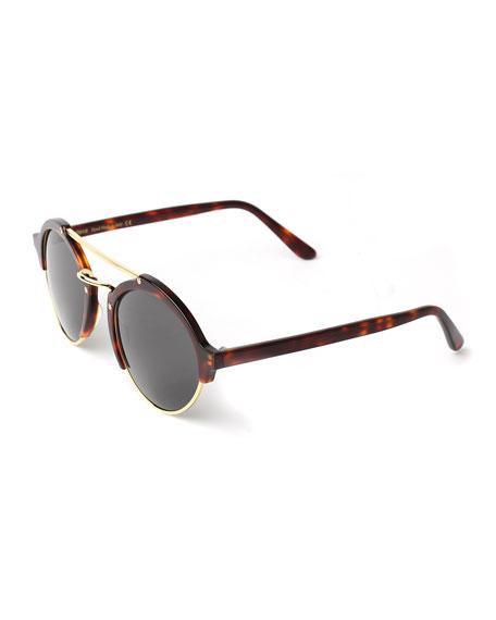 Illesteva Milan II Round Sunglasses, Havana