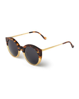 Palm Beach Bicolor Sunglasses, Brown