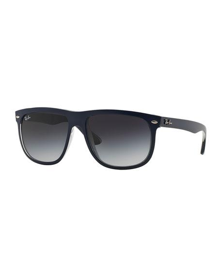 Rectangular Wrap Sunglasses, Blue
