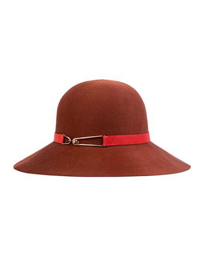 Blake Wide-Brim Hat, Sienna