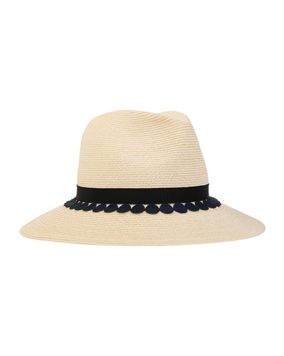 Courtney Wide-Brim Fedora, Ivory