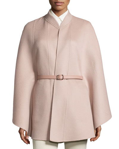 Melton Baby Cashmere Cape, Pink