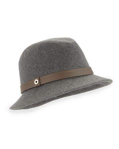 Ingrid Cashmere Storm System Hat, Gray