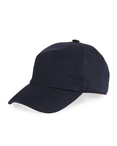 Storm System Cashmere Baseball Hat, Golden Shade