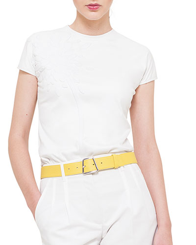 Leather Trapezoid Buckle Belt